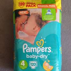 Pampers baby dry giga packs £9.99 at Costco
