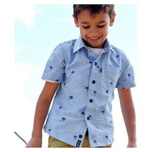 Cherokee Boys Fashion Palm Tree Short Sleeve Shirt - 9-10 £3 @ Argos