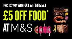 £5 off a £35 Spend Voucher on Food and Flowers at M & S in The Mail - Sat 27th Aug (90p) - Sun 28th Aug (£1.70) -  Mon 29th Aug (65p) Voucher valid 'till Wed Aug 31st -  No need to purchase the Mail when using self scan tills - See deal details