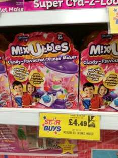 M!XUBBLES candy flavoured drinks maker was £22.99 now £4.49 @ Home Bargains