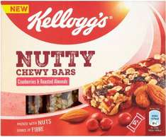 Kellogg's nutty chewy bar cranberries and roasted almonds 70p Tesco