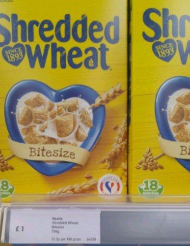 Shredded wheat bite size @ Iceland for £1