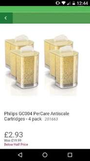 @Homebase Phillips GC004 PerCare Antiscale Cartridges 4 Pack for £2.93 (Instore only)