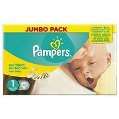 Pampers size 1 72 Pack £5.60/£0.08p a nappy @ Amazon S&S