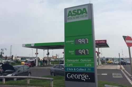 Petrol at Asda Barry 99.7p per litre