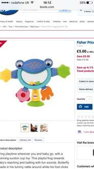 Fisher price froggy suction toy £5 boots free c&c