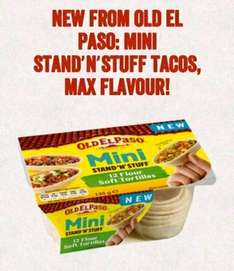 50p money off  cupon for the new OLD EL PASO mini stand n stuff