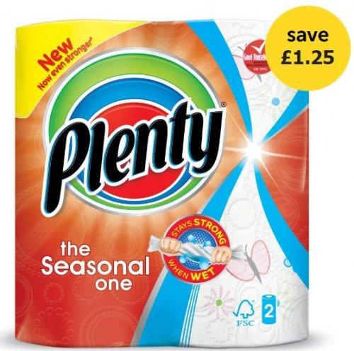 Plenty The Seasonal One 2 Kitchen Rolls £1 @ Wilko