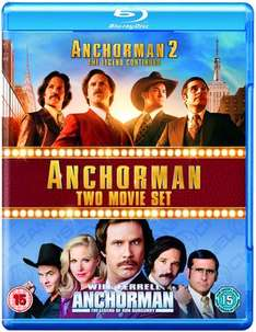 Anchorman/Anchorman 2 (Blu-ray - new) £2.26 delivered @ Music Magpie (with code)