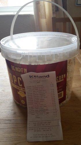 250g bucket of cinema sweet popcorn £1.75 from Iceland