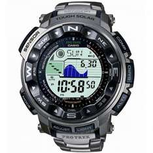 CASIO MEN'S PRO TREK TITANIUM ALARM CHRONOGRAPH RADIO CONTROLLED WATCH PRW-2500T-7ER - £166.25 with code @ Watch Shop