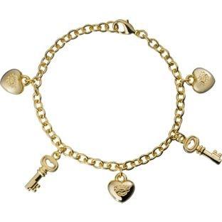Gold Coloured Key Heart Charm Bracelet £2.49 @ Argos