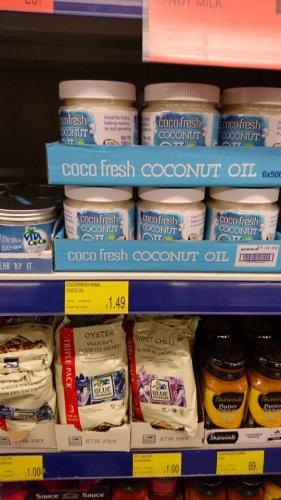 Coco fresh 100% pure coconut oil 500g £1.49 b&m