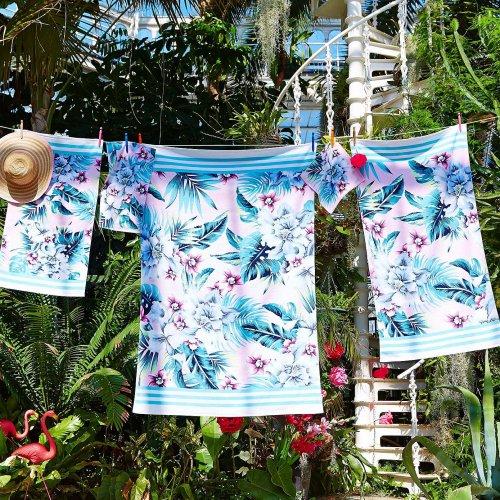 Accessorize Tropical Orchid Printed Cotton Towel [face cloth £1/guest towel £2/hand towel £3/bath towel £5/baath sheet £7] free c&c @ Dunelm