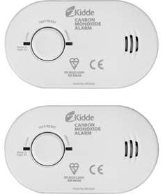 Kidde Carbon Monoxide Basic Alarm Twin Pack. £19.99 @ Argos