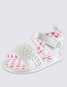 Kids' Scallop Riptape Pram Shoes now £4.00 C&C at Marks & Spencer (more in 1st comment)