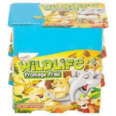 Wildlife Variety Pack Fromage Frais 18 x 45 £1 at farmfoods
