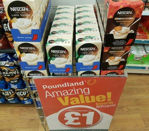 Nescafe Vanilla Latte / Irish Cream Latte / Gingerbread Latte [8 Sachets] £1 @ Poundland
