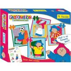 Paddington 4 in 1 Puzzle with Stickers £2.99 was £7.99 Less Than Half Price @ Argos