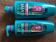 L'oreal Elvive huge 700ml shampoo and conditioners £3 at asda