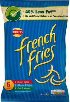 Walkers French Fries Variety (6 x18g) was £1.50 now 75p @ Tesco