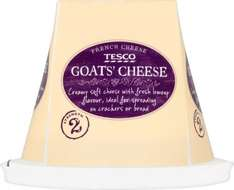 Tesco Fresh French Goat's Cheese (Strength 2 = 150g) was £2.00 now £1.00 @ Tesco