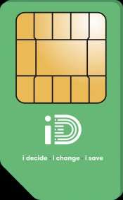 ID sim only 1 month contract £5 500 Minutes 5000 Texts 5GB Data after auto cashback (£15 before) e2save