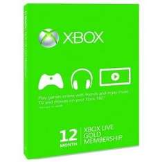Xbox Live Gold - 12 Month Membership Card £29.96 @ Maplin free delivery