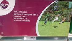 Plum 2 in  one swing set -  tesco instore - £11.25