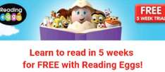 Learn to read in 5 weeks for FREE with reading eggs(kids aged 3-13)