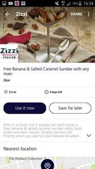 il bring the deals professional anarchist/penny pincher and loving humanitarian FREE DESSERT AT ZIZZI with any main recommend small cheese and tomato pizza via O2 Priority