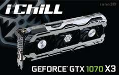 Inno3D GeForce GTX 1070 iChill Air Boss X3, £389.99, free p&p, from Overclockers
