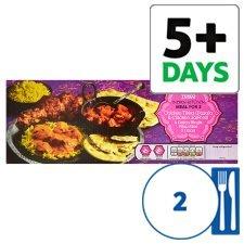 Tesco indian Meal For 2 £5  [2xcurry+4 onion bhajis+pilau rice+2 naan bread]