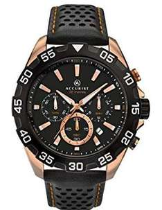 Accurst Men's Quartz Watch with Black Dial Chronograph Display at Amazon for £33.05
