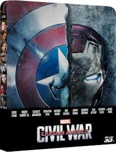 Captain America civil war STEELBOOK  Blu-ray £24.99 @ Zavvi