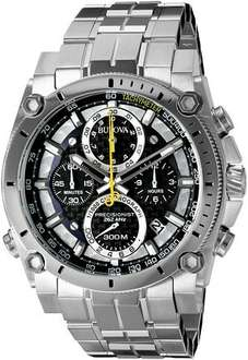 Bulova Precisionist Chronograph Men's UHF Watch with Black Dial and Silver Stainless Steel Bracelet - £311.50 @ Amazon