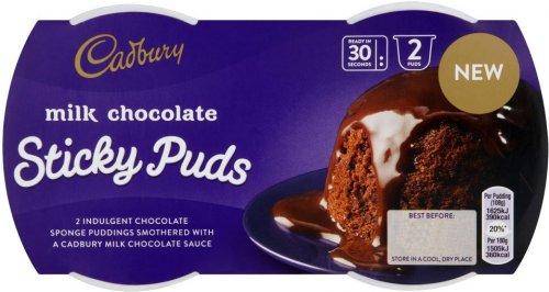 Cadbury Milk Chocolate Sticky Sponge Pudding / Cadbury Fudge Sponge Pudding (2 x 95g) was £1.97 now £1.00 @ Morrisons & Asda