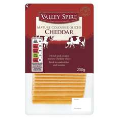 Valley Spire Mature Cheddar Cheese Slices (250g) ONLY £1.25 (£5.00 a Kilo) @ Lidl