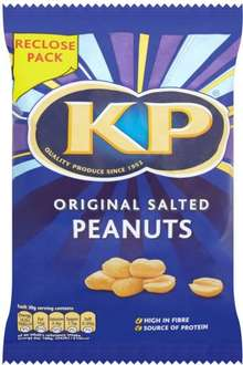 KP Dry Roasted / Unsalted Dry Roasted /  KP Original Salted Peanuts (270g) was £2.00 now £1.00 @ Sainsbury's
