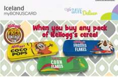 Get a FREE vintage tin when u buy any pack of Kellogs cereal at iceland