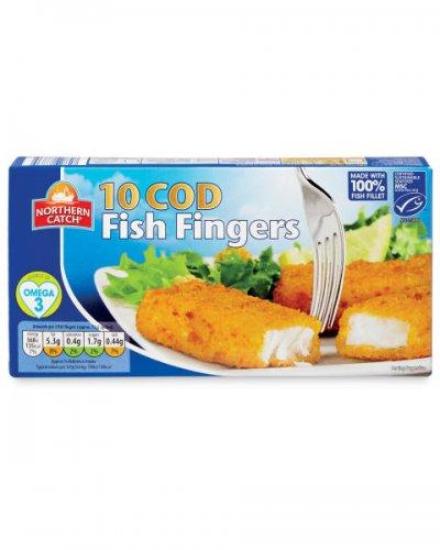 10 Cod (58%) Fish Fingers £1.19 from Aldi