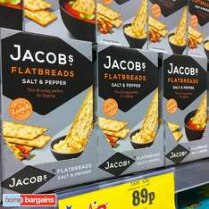 Jacobs Flatbreads 150g only 89p at Home Bargains