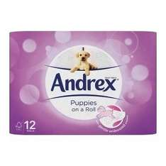12 Pack Andrex Toilet Paper - Puppies On A Roll £1.00 + £4.75 p&p Poundshop instore or + delivery online