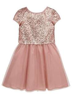 V by Very Girls Sequin and Tulle Dress (was from £28) Now from £14.00 C&C at Very