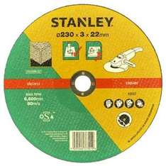 Stanley angle grinder disc 230mm for stone £2.49 or metal £2.99 @ homebase