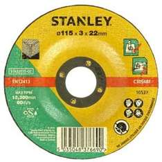 Stanley 115mm and 125mm grinder discs £1.49-£1.99 @ homebase