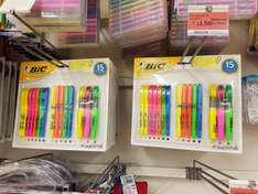 BIC highlighter 15pcs was £5 now £1.50 at Sainsburys colliers wood.