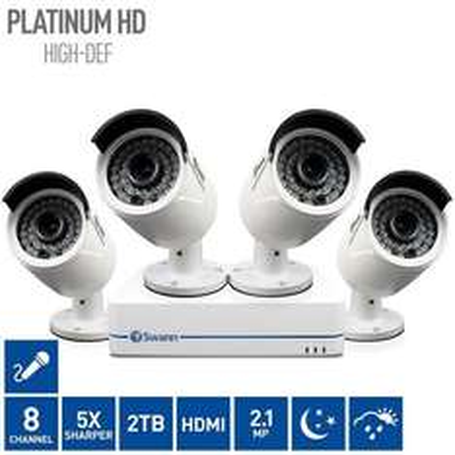 Swann CCTV NVR8-7285 8 Channel Network Video Recorder + 4 x NHD-810 Cameras £399.99 @ Costco