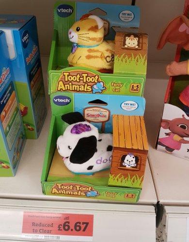 Vtech Toot Toot Furry Animals - cat or dog, £6.67 at Sainsbury's
