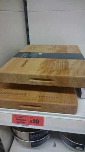 quality chopping board £10 Sainsburys instore